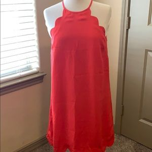 Red Scalloped Dress